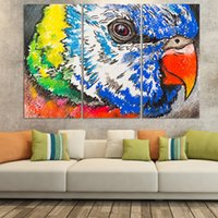 beautiful birds pictures - 3pcs set beautiful birds modern design canvas print wall art picture home decorations for kid room No Frame