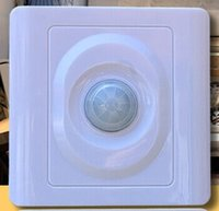Wholesale white intelligent infrared human body sensor switch voice activated switch dimming v