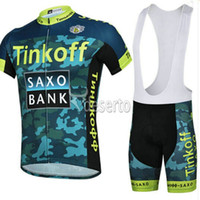 Wholesale High quality tinkoff saxo bank cycling jersey Camouflage cycling clothing lycra cycling bibs