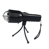 Wholesale Vibelite w LED Stage Light in Portable Flashlight Colorful Lighting Auto Revolving Disco Ball Lamp With Tripod