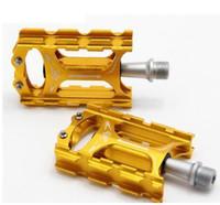 Wholesale 2016 NEW Bike Pedal MTB Folding Dead Fly Aluminium Alloy High End CNC Precision Molding NBK Bearing Non Slip Ultralight Pedal