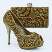 beauty border - Hot sale in summer cm heel shoes matching with small bag beauty design with stones