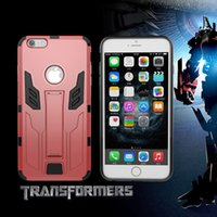 armor combine - The new for iPhone6s s plus autobots mobile phone sets of tpu PC combined armor following stent