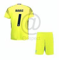 Wholesale Thailand kids boys Real Madrid Season goalkeeper Soccer Jerseys Football navas k casilla