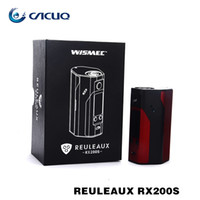 Wholesale Wismec RX S Mod RX200S Updated inch OLED Screen Reuleaux RX200S W Mod DHL