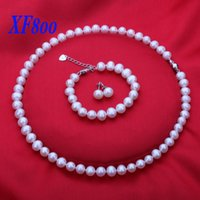 best women suits brands - XF800 Brand natural pearl jewelry set super worth suit best gift for women T023
