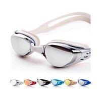Wholesale Swim Eyeglasses coating swimming glasses Summer Professional Swim Eyeglasses Eyewear UV Protection Swimming Goggles adult goggles anti fog