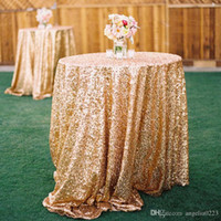 Wholesale High Quality Bling Bling Long Gold Sequin Table Covers Wedding Champagne SequinTable Cloth Sparkly Champagne Table Sequin Linens
