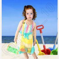 Wholesale Kids Beach Toys Receive Bag Mesh Sandboxes Away All Sand Child Sandpit Storage Shell Net Sand Away Beach Mesh Pouch CCA3796