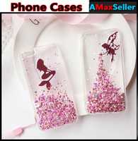 apple iphone angels - Fashion Mermaid Angel Glitter Powder bling Phone Cases For iphone s plus plus Transparent TPU Soft Back Cover Shockproof Shell Skin