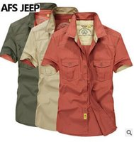 Wholesale High Quality NEW JEEP Summer Shirts Man Plus Size Men Shirts Short Sleeve S XL
