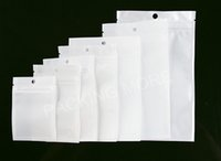 Wholesale White Clear Self Seal Zipper Plastic Retail Packaging Packing Poly Bag Ziplock Bag Package Hang Hole