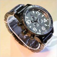auto words - New Black faced White word Black bracelet Watch A083 Watch