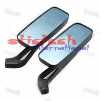 Wholesale by dhl or ems sets Hot sale High Quality CNC Aluninum Motorcycle Mirror moto Rearview Mirror square mirrors mm mm adapter