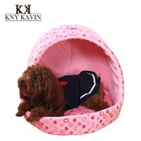 Wholesale Brand Dog House New Fashion Dog Beds Two Color Begs House For Dogs Small Cats Pets House Beds With Mat HP592