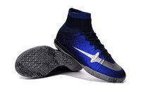 Wholesale 2016 New Arrivals Mercurial Superfly CR7 IC mens soccer shoes cleats cheap indoor football boots futball shoes cleats