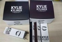 Wholesale 3pc Dropshipping kylie jenner Kyliner Cosmetics In Black Brown Dark with Eyeliner Gel pot Brush factory price ePacket