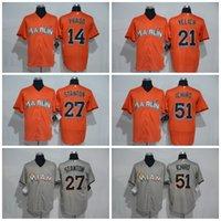 baseball suzuki - Cheap Miami Marlins Martin Prado Flexbase Baseball Jerseys Christian Yelich Giancarlo Stanton Suzuki Ichiro Throwback Jersey