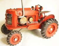 antique tin model cars - Supply of iron vintage steam tractor simulation car model car crafts handmade tin