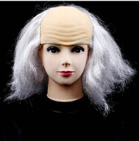 Wholesale Halloween masquerade theatrical dress Bald head Mediterranean wig Funny Wig Mixed color