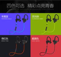 Wholesale 2016 New vikky S Earphone Headphone Wireless Sport Bluetooth Headset Stereo Earplugs with Microphone for Phone