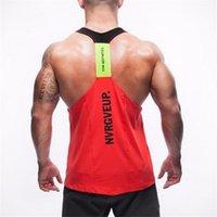Wholesale New Brand GymShark Men Bodybuilding Fitness Man Tank Tanker Stringer Clothing GymShark T shirt Fashion Casual Man