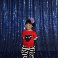 Wholesale 4x6ft Navy Blue Sequin Photo Booth Backdrop Wedding Photobooth Props Shimmer Curtain