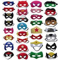 Wholesale Batman Spiderman Teenage Children s Cosplay Mask Flash Supergirl Batgirl Robin kids Cape
