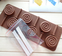 bar swirl - 2015 DIY handmade chocolate mold bakeware club with swirl lollipop mold Cake mold Chocolate bar Valentine s Day gift Housewife