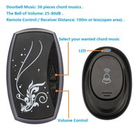 Wholesale Waterproof Pieces Chord Musics Meters Wireless Remote Control Door Bell Doorbell Volumes Selection dB
