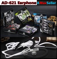 ads package - New AD AD Universal In ear Earbuds mm Sports Earphones Ears hang Headset with Microphone Heavy Bass Headset with retail package