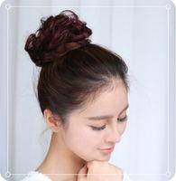 Wholesale chignon bun clip in on elastic net hair bun Chignon Ponytail Drawstring Hairpieces cosplay ball hairs
