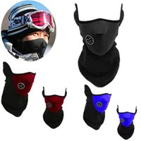 Wholesale Thermal Neck Warmers Balaclavas CS Hat women Headgear Winter Ski Masks Windproof Face Mask Snowboard Motorcycle Bike Balaklava T0140