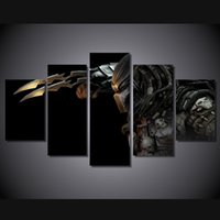 alien pictures - 5 Set No Framed HD Printed predator Alien Painting Canvas Print room decor print poster picture canvas spray painting