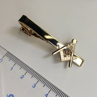 Wholesale 2016 New Arrival Hat Past master freemasonry tie bar luxury for men clothing stickpin tie clasp clips masonic masonry breastpin tie clasps