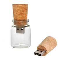Wholesale Wish Bottle Model USB Enough Memory Stick Flash Pen Drive Wishing Bottle Gift USB Flash Drive Drift Bottle GB GB GB Box