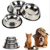 bacteria foods - Stainless Steel Pet Dog Cat Puppy Food Water Single Bowl Feeding Dish Travel resisting rust and bacteria