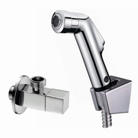 Wholesale angle valve Sprayer ABS hand held shower and holder with toilet bidet shattaf spray toilet shower set BD111