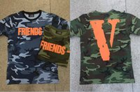 asap printing - summer Vlone For Know Wave friends letter big V print ASAP Rocky short sleeve t shirt tee