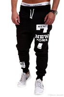 Wholesale 2016 Spring and Autumn new fashion men s sports and fitness Parkour printing hip hop clothing jogging pants outdoor sports pants four colors