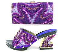 best peep toe - VIVILACE TH16 purple fashion shoes and bag set best price in stock african shoes and matching bag