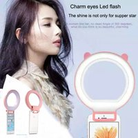 for phone tablet pc android charms - 50pcs charm eyes Led Flash Spotlight Fill Light For iPhone ipad and Android Selfie Ring Light Cellphone Photo Camera Video Lamp Speedlite