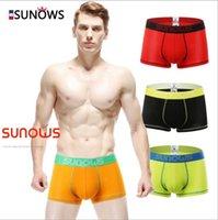 Wholesale Pure color boxer briefs modal cotton boxer briefs Men s underwear sexy U convex comfortable soft breathable underwear