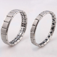 Wholesale L Stainless Steel Energy Bracelet Stone Titanium Steel Bracelet Germanium Woman Man Fashion Jewelry
