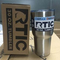 Wholesale 2016 Newest RTIC oz Tumbler Mug Cup Bilayer Stainless Steel Insulation Cup oz RTIC Cups