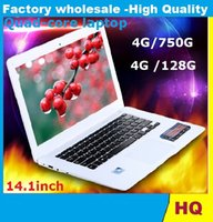 Wholesale 14inch Laptop Quad Core Win G HDD G ROM Laptop Intel Atom J1900 X64 Ultra thin Airbook Netbook Laptops