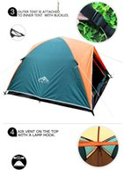 Wholesale 2015 Top Brand Quality double layer person rainproof ourdoor camping tent for hiking fishing hunting adventure picnic party