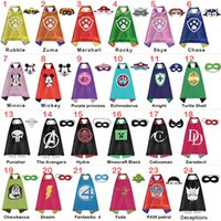 Wholesale Double side kids Capes and masks yoda Knight chewbacca Patrol catwoman Hydra Daredevil capes with mask for Children s Cosplay DHL free
