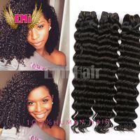 beauty wave mix - Beauty Top Quality Boundles Brazilian Virgin Deep Curly Wave Wavy Human Hair Virgin Deep Curly Extension Mixed for Black Women