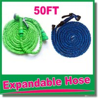 Wholesale high quality FT retractable hose Expandable Garden hose Blue Green color fast connector water hose with water gun OM D9